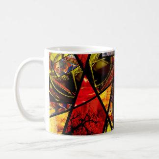 Collage de cristal de la foto de la mancha (rojos) taza clásica