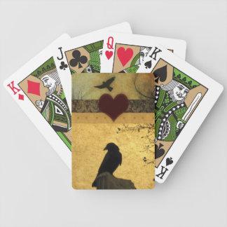 Collage de cuervos baraja