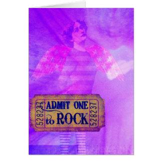 Collage de Digitaces del ángel del rock-and-roll Tarjeta De Felicitación