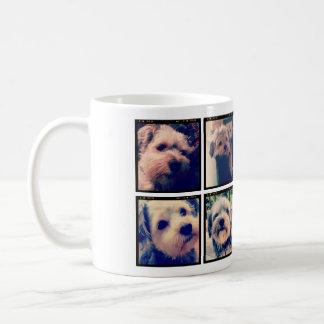 Collage de encargo de la foto con 8 fotos taza clásica