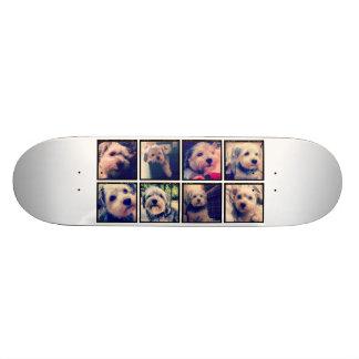 Collage de encargo de la foto con las fotos cuadra monopatines personalizados