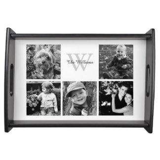 Collage de encargo de la foto de familia bandejas