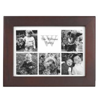 Collage de encargo de la foto de familia cajas de recuerdos