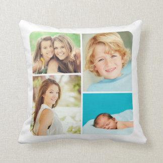 Collage de encargo de la foto de familia cojín