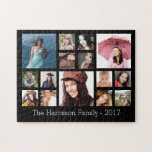 Collage de encargo de la foto de familia puzzles