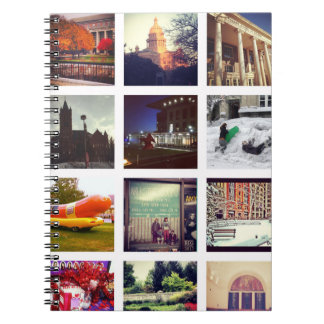 Collage de encargo de la foto de Instagram Spiral Notebooks
