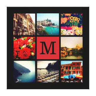 Collage de encargo de la foto de Instagram del mon Impresión En Lona