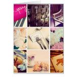 Collage de encargo de la foto de Instagram Tarjeta De Felicitación
