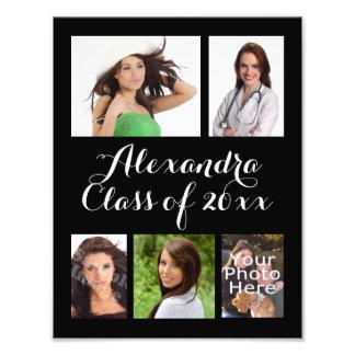 Collage de encargo de la foto de la graduación