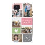 Collage de encargo de la foto del día de madre del iPhone 4 carcasas