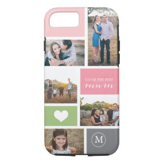 Collage de encargo de la foto del día de madre del funda iPhone 7
