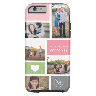Collage de encargo de la foto del día de madre del funda resistente iPhone 6
