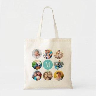 Collage de encargo de la foto del marco del bolsa tela barata