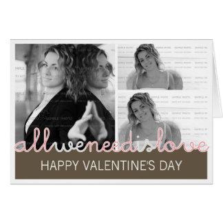 Collage de encargo de la tarjeta de felicitación d