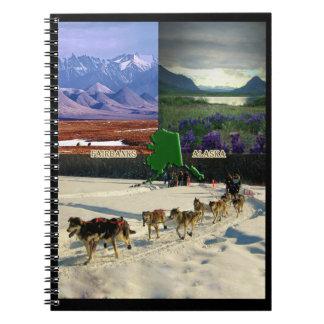 Collage de Fairbanks, Alaska Libreta Espiral