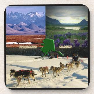 Collage de Fairbanks, Alaska Posavasos