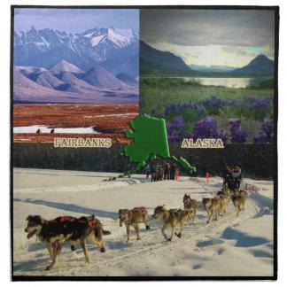 Collage de Fairbanks, Alaska Servilletas Imprimidas