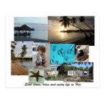 Collage de Fiji de la isla de Malolo Leilei Postal