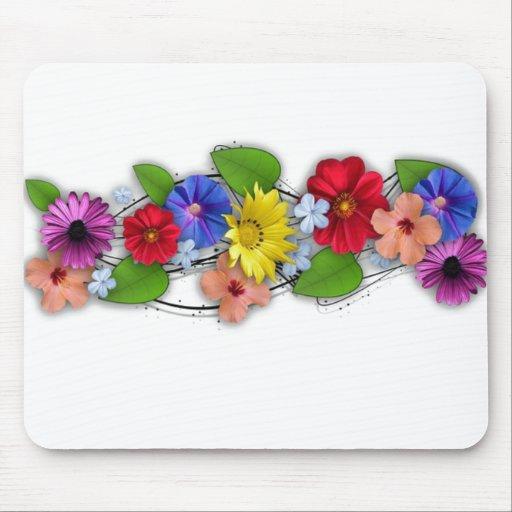 collage de flores hermosas tapetes de ratones