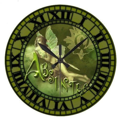 Collage de hadas 2 del ajenjo reloj