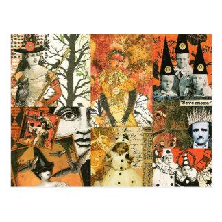 Collage de Halloween del vintage Tarjetas Postales