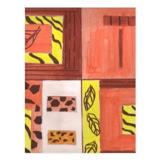 Collage de hojas tarjetas postales
