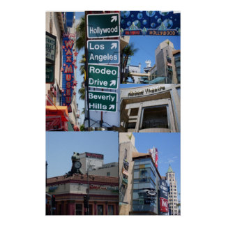 COLLAGE DE HOLLYWOOD, CALIFORNIA POSTERS