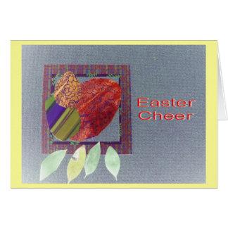 Collage de huevos y de hojas de la bahía tarjeta