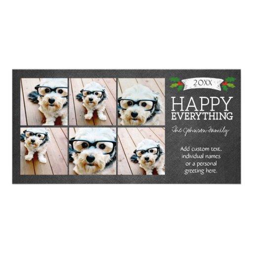 Collage de Instagram con 6 fotos en la pizarra Tarjeta Fotográfica Personalizada