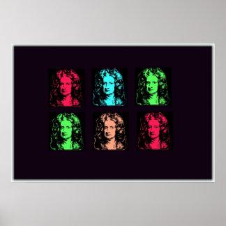 Collage de Isaac Newton Póster