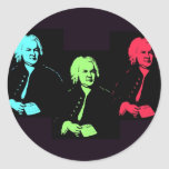 Collage de Johann Sebastian Bach Pegatina Redonda