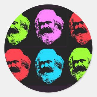 Collage de Karl Marx Pegatina Redonda