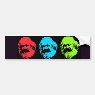 Collage de Karl Marx Pegatina Para Auto