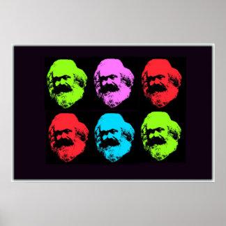 Collage de Karl Marx Póster