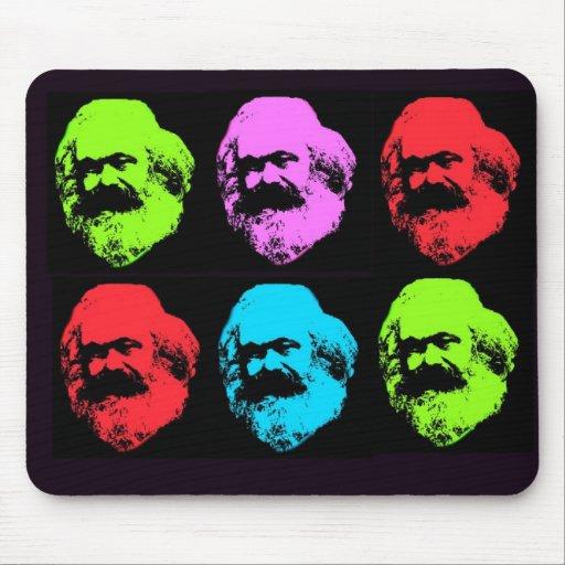 Collage de Karl Marx Tapetes De Ratones