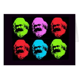 Collage de Karl Marx Tarjeta