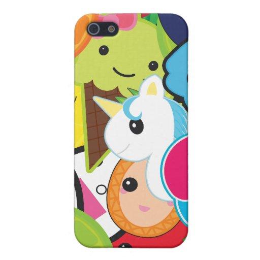 Collage de Kawaii iPhone 5 Carcasas
