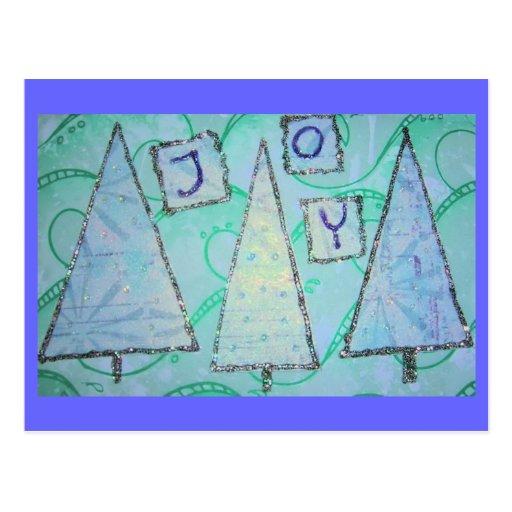 Collage de la alegría del trullo tarjeta postal
