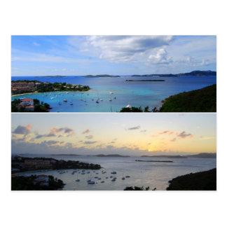 Collage de la bahía de Cruz, St. John, postal de