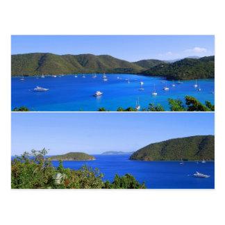 Collage de la bahía de Maho, St. John, postal de