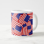Collage de la bandera americana tazas jumbo