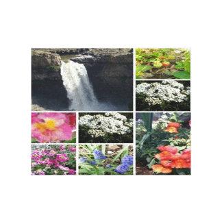 Collage de la belleza impresión en lienzo