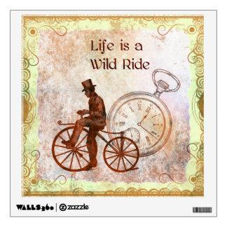 Collage de la bicicleta de Steampunk del paseo Vinilo