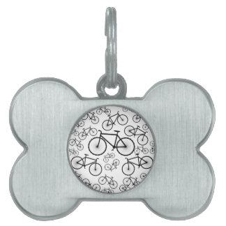 Collage de la bicicleta placas mascota