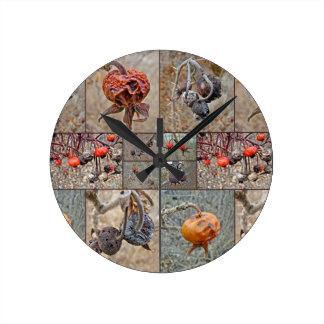 Collage de la cadera color de rosa relojes