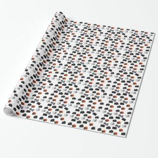 Collage de la cámara en blanco papel de regalo