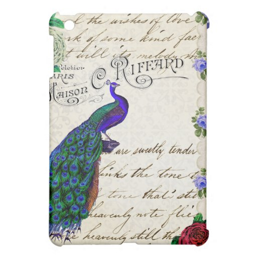 Collage de la canción del pavo real del vintage