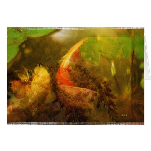 Collage de la charca de Koi - tarjeta