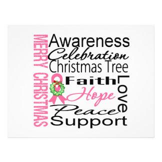 Collage de la cinta del cáncer de pecho de las Fel Flyer Personalizado