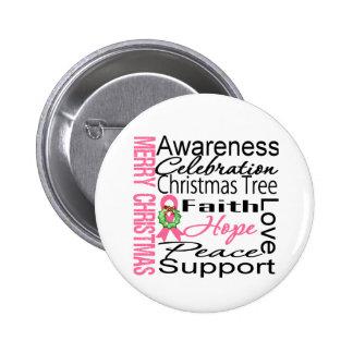 Collage de la cinta del cáncer de pecho de las Fel Pin